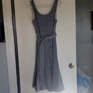 Navy Gingham J.Crew Dress
